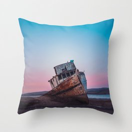 Point Reyes Shipwreck | Sunset Point Reyes Inverness California Landscape Travel Photography Throw Pillow