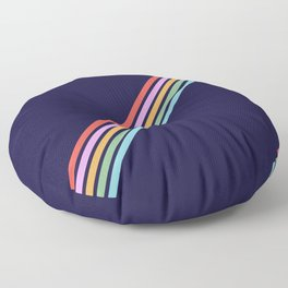 Bathala - Minimal Classic 80s Style Graphic Design Stripes Floor Pillow