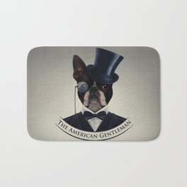 Boston Terrier  - The American Gentleman Bath Mat