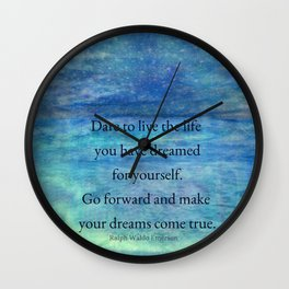 Inspirational DREAM quote Wall Clock