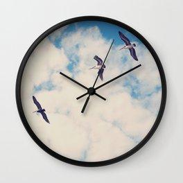Flying Over Seas Wall Clock