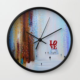 Time to LOVE Wall Clock