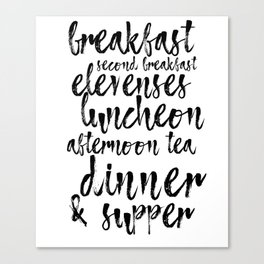 Second Breakfast Canvas Print