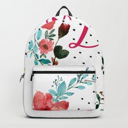 Pretty love floral wreath Backpack