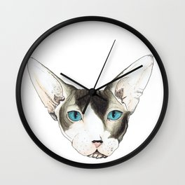 Hairless Cat Wall Clock