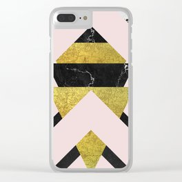 Dramatic Stripping Mixture Clear iPhone Case