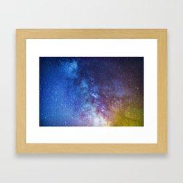 Purple Star Galaxy Framed Art Print