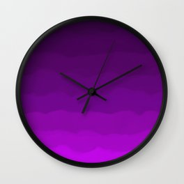 Ultra Violet Waves - Rich Purple Gradient Wall Clock