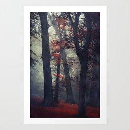 feel unreal - magical forest scene Art Print