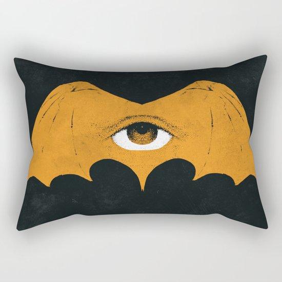 gold bat Rectangular Pillow