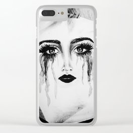 Expressionless Expression Clear iPhone Case