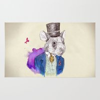 hamster Area & Throw Rugs featuring hamster by Amit Shimoni