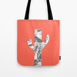 Cactus in Red - Collage Tote Bag