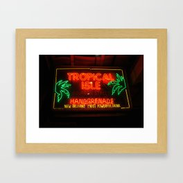 Neon New Orleans Framed Art Print