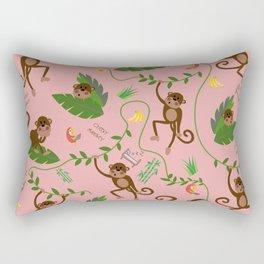 jumping cheeky monkeys 02 Rectangular Pillow