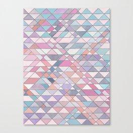 Triangle Pattern no.25 Light Pink Canvas Print