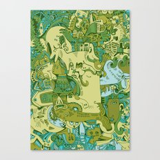Green Town Canvas Print