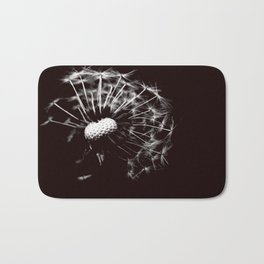 Dandelion Black & White Bath Mat