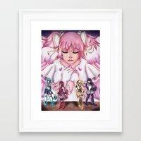 madoka magica Framed Art Prints featuring Puella Magi Madoka Magica by EternalAshley225