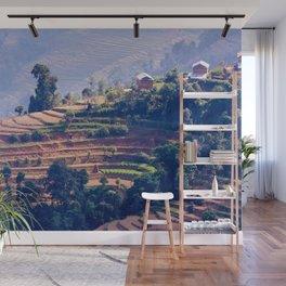 Mountain Fields Wall Mural