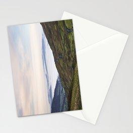 Cloud inversion over Ambleside at sunrise. Cumbria, UK. Stationery Cards