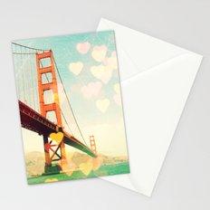 Golden Gate Bokeh Stationery Cards