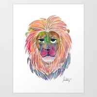 courage Art Prints featuring Courage by Jhoanna Monte