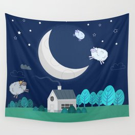 What The Sheep Do While You Sleep Wall Tapestry