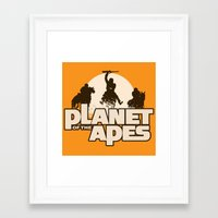 planet of the apes Framed Art Prints featuring Planet of the Apes by leea1968