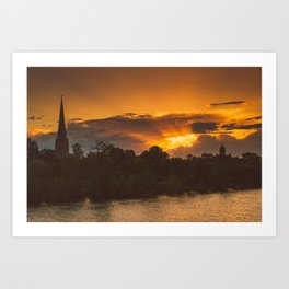 Capital Sunset Art Print