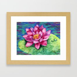 The Beautiful Lily Framed Art Print