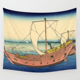 "Hokusai (1760–1849) ""The Kazusa Province sea route"" Wall Tapestry"