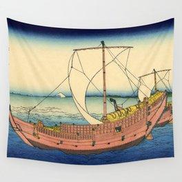 "Hokusai (1760–1849) ""The Kazusa Province sea route"" Wall Tapestry"
