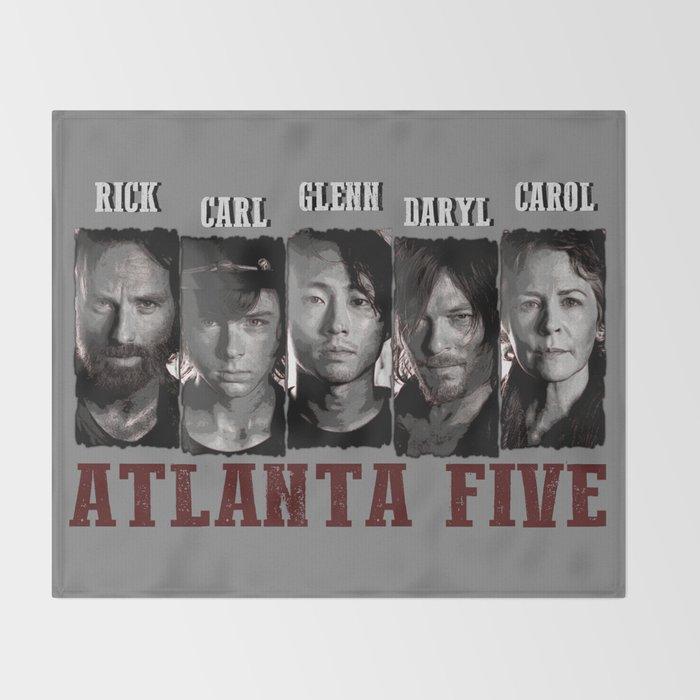 Walking Dead Throw Blankets Simple Atlanta Five The Walking Dead Throw Blanket By Cursedrose Society60