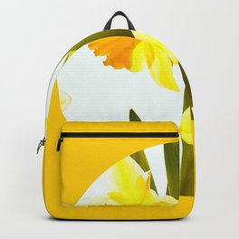 Yellow Spring Flowers with Green Leaf #decor #society6 #buyart Backpack