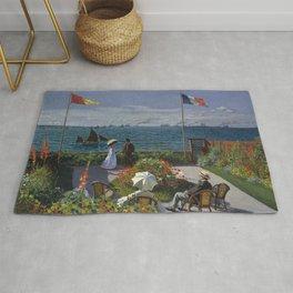 Claude Monet - Garden at Sainte-Adresse (1867) Rug