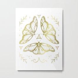 Fairy Dance - Gold Metal Print
