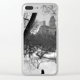 Central Park Snow Manhattan Clear iPhone Case