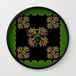 green field Wall Clock