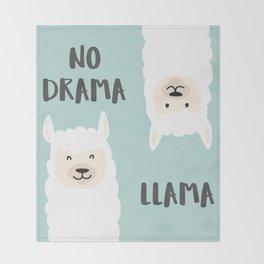NO DRAMA LLAMA. Throw Blanket