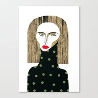 fashion illustration Canvas Prints featuring Fashion Illustration  by Ashley Percival illustration