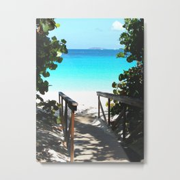 Trunk Bay walkway to beach, St. John Metal Print