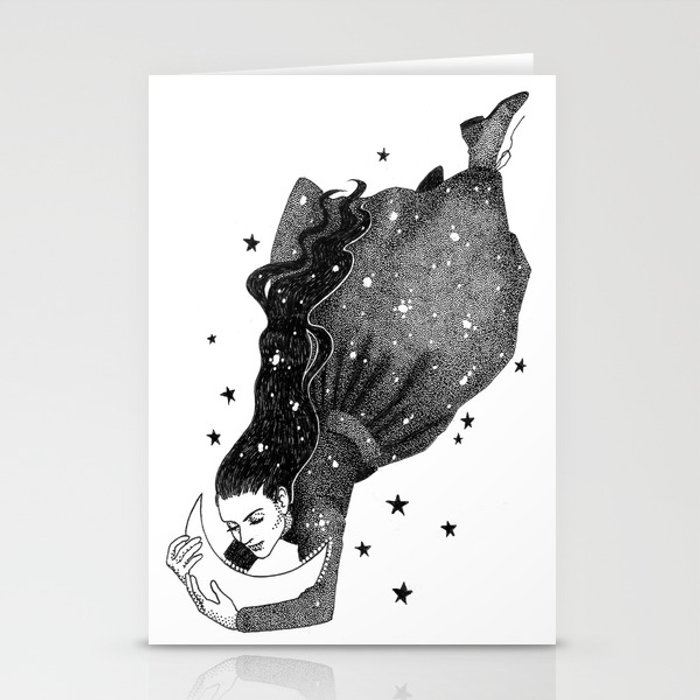 I Have Loved The Night Too Fondly Stationery Cards