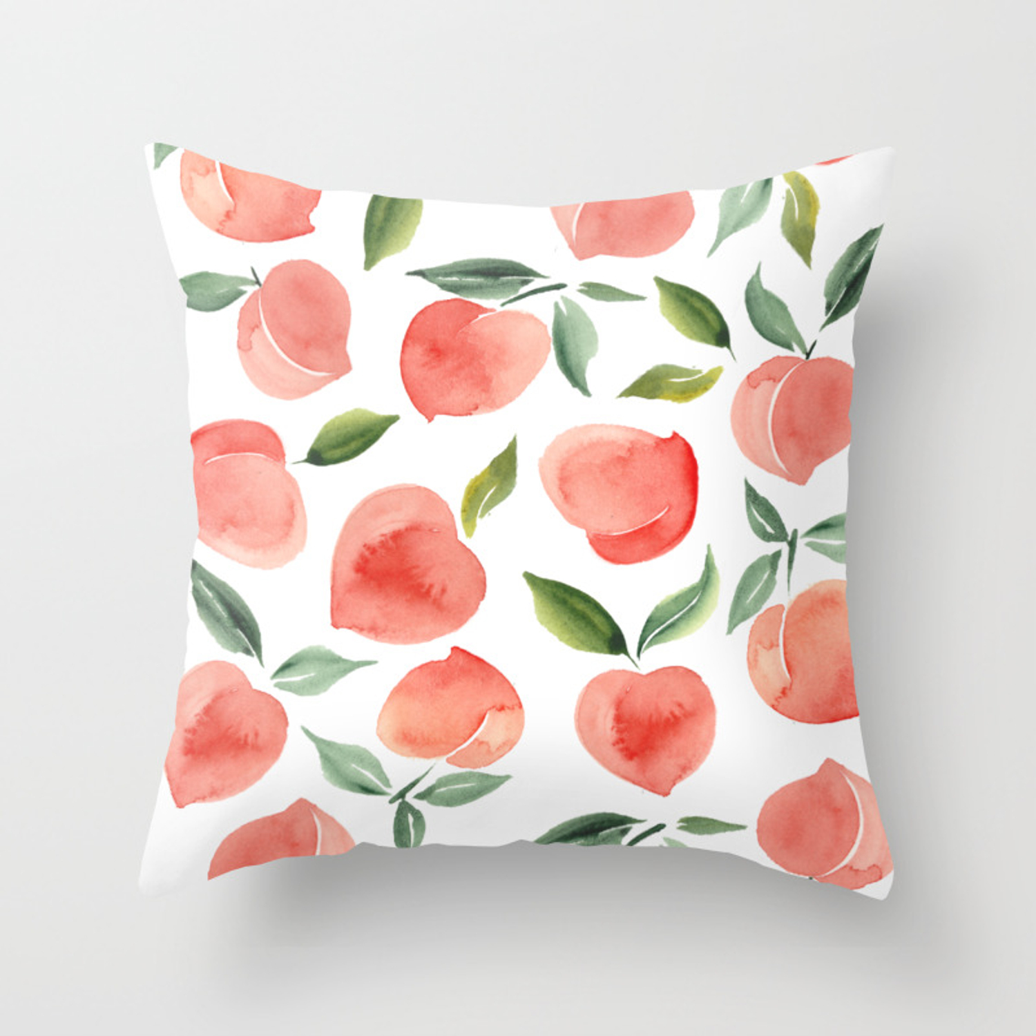 Peaches Throw Pillow By Summersunhomeart Society6