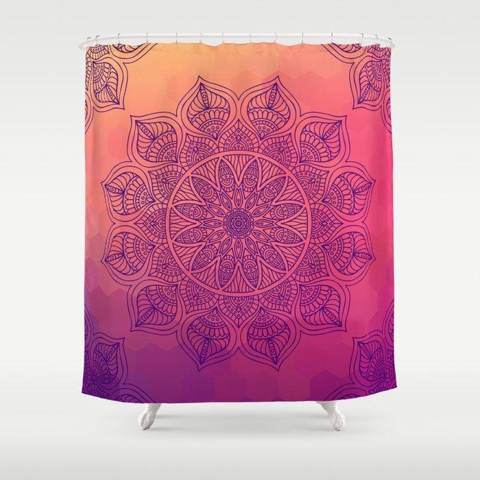 Happy Mandala Shower Curtain