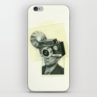 cyclops iPhone & iPod Skins featuring cyclops by Cut and Paste