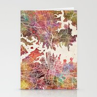 sydney Stationery Cards featuring Sydney by MapMapMaps.Watercolors