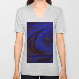 blue matrix Unisex V-Neck