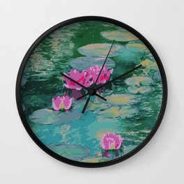 Lotus Floating On Lily Pads Wall Clock