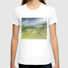 Precious Green Watercolor Landscape T-shirt